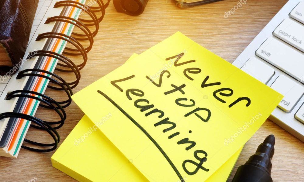Een leven lang leren. Lang leve het leren!